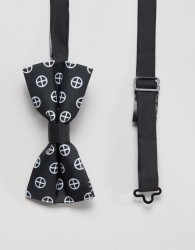 Religion bow tie with geo print - Black