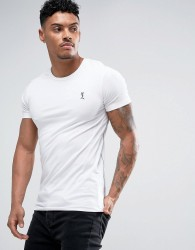 Religion Crew Neck T-shirt in Muscle Fit - White