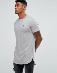 Religion Longline T-Shirt - Grey