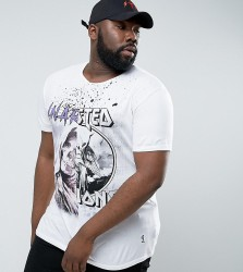 Religion PLUS T-Shirt With Half And Half Print - White