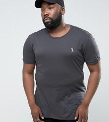 Religion PLUS T-Shirt With Step Hem - Black