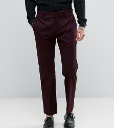 Religion Skinny Cropped Trouser In Burgundy - Red