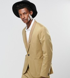 Religion Straight Suit Jacket In Cotton In Camel - Beige
