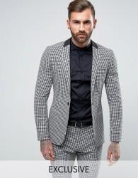 Religion Super Skinny Suit Jacket In Gingham - Multi