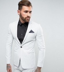 Religion Super Skinny Suit Jacket in Pale Grey - Grey