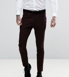Religion Super Skinny Suit Trouser with Patch Pocket - Purple