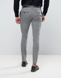 Religion Super Skinny Suit Trousers In Gingham - Multi