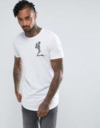 Religion T-Shirt With Praying Skeleton - White