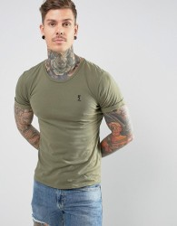 Religion T-Shirt with Roll Sleeve - Green