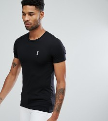 Religion Tall Crew Neck T-Shirt In Muscle Fit - Black