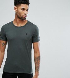 Religion Tall T-Shirt with Rolled Sleeves - Grey
