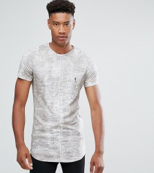 Religion TALL T-Shirt With Texture And Logo - Grey