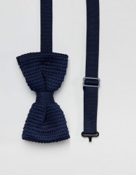 Religion wedding knitted bow tie in navy - Blue