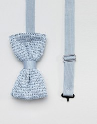 Religion wedding knitted bow tie in pastel blue - Blue