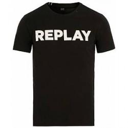 Replay Crew Neck Logo Tee Black