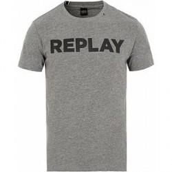 Replay Crew Neck Logo Tee Grey