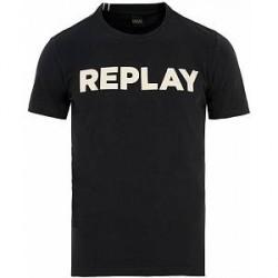 Replay Crew Neck Logo Tee Navy