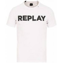 Replay Crew Neck Logo Tee White