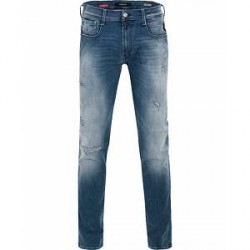 Replay M914 Anbass Hyperflex Light Hole Jeans Light Blue