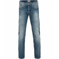 Replay MA972 Grover Shredded Jeans Medium Blue