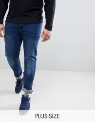 Replika Plus Axel Slim Fit Jeans In Stone Wash With Stretch - Blue