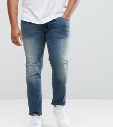 Replika PLUS Axel Slim Jeans In Mid Wash Blue - Blue
