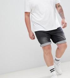Replika Plus Skinny Fit Denim Short With Stretch - Black