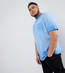 Replika Plus T-Shirt In Washed Slub - Blue