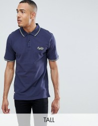 Replika Tall Polo With Contrast Tipping - Navy