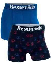 Resteröds Undertøj Resteröds 2-pak Blå med Mønster Tights (Lange ben) 7901 49 112