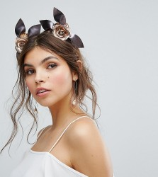 Ribbon & Asher Race Day Metallic Roses Headband - Silver