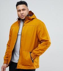River Island Big & Tall coat with hood in mustard - Yellow