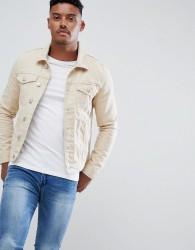 River Island denim jacket in ecru - Cream