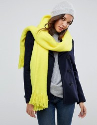 River Island Fluffy Blanket Scarf - Yellow