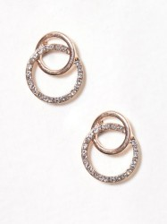 River Island Interlink Pave Circ Stud Ørering Orange