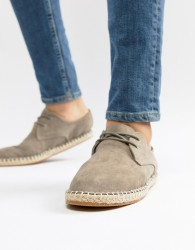 River Island Lace Up Espadrille In Grey - Grey
