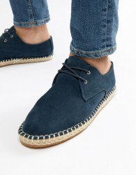 River Island Lace Up Espadrille In Navy - Navy