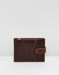 River Island Leather Wallet In Brown - Brown