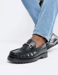 River Island loafer with heavy sole detail in black - Black