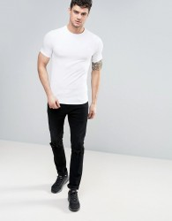 River Island Muscle Fit T-Shirt In White - White