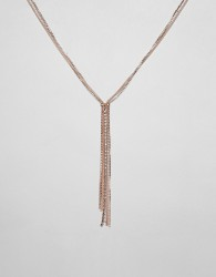 River Island necklace with diamante detail in rose gold - Orange