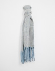 River Island oversized knitted scarf in light blue - Blue