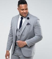 River Island PLUS Slim Fit Suit Jacket In Grey - Grey
