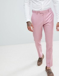 River Island Skinny Fit Wedding Suit Trousers In Pink - Pink