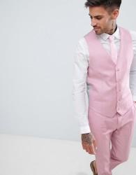 River Island Skinny Fit Wedding Suit Waistcoat In Pink - Pink