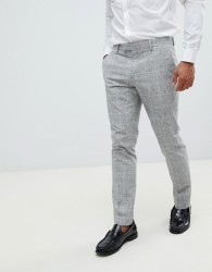 River Island skinny suit trousers in light grey - Grey