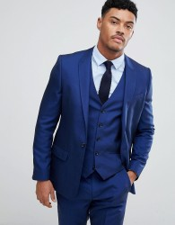 River Island Slim Fit Suit Jacket In Bright Blue - Blue