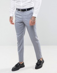 River Island Slim Fit Suit Trousers In Blue Grey - Blue