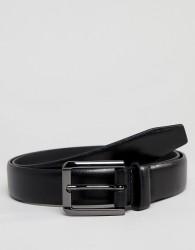 River Island Smart Faux Leather Belt In Black - Black