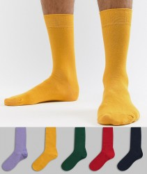 River Island Socks In Bold Multi Colour 5 Pack - Multi